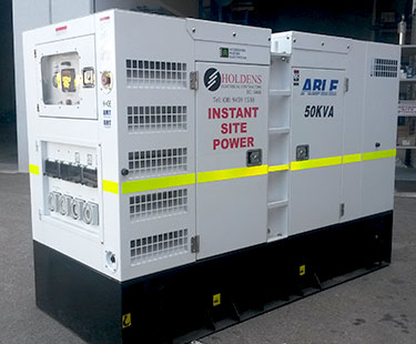 Holdens Electricians provides competitively priced generator hire for a wide range of applications.