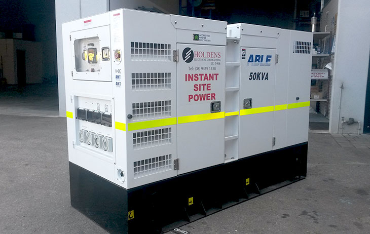 Holdens Electrical Contracting provides competitively priced generator hire for a wide range of applications.